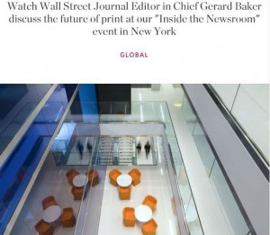 Inside the Newsroom is among the most popular events organised by the Wall Street Journal.
