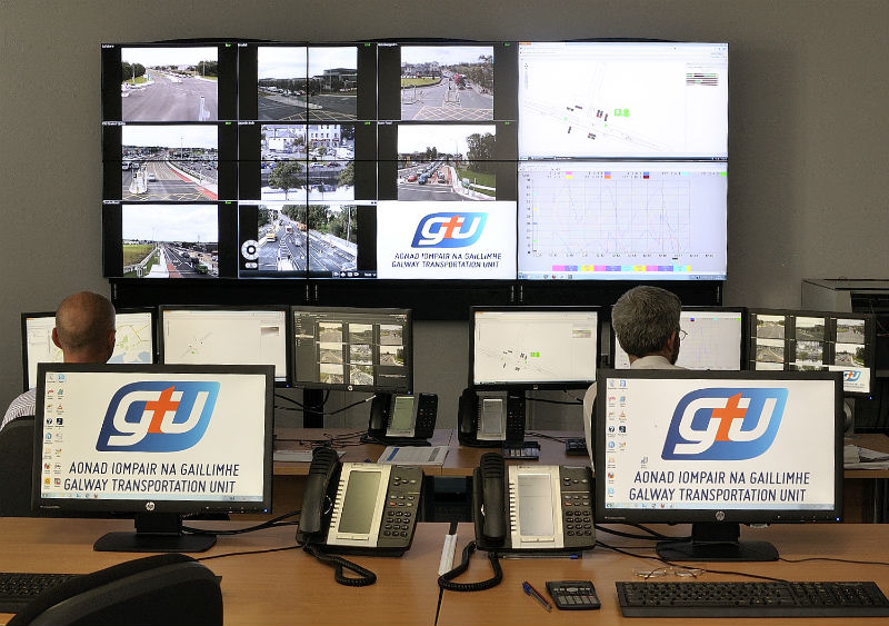 Galway City Council's traffic management centre.